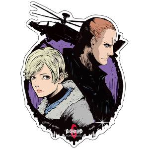 Capcom x B-SIDE LABEL Sticker - Resident Evil / Biohazard Jake & Sherry [Goods]