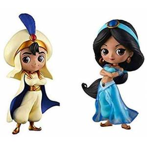 Q posket Disney Characters - Aladdin Prince & Jasmine Princess Style [Banpresto] [Used]