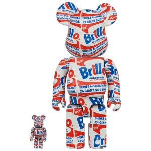 "BE@RBRICK / Bearbrick ANDY WARHOL ""Brillo"" 100% & 400% 2PC Limited Set [Medicom Toy]"