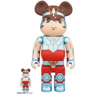 BE@RBRICK / Bearbrick Saint Seiya Pegasus 100% & 400% 2PC Limited Set [Medicom Toy]