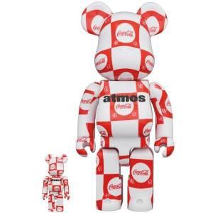 BE@RBRICK / Bearbrick atmos × Coca-Cola Tokyo 100% & 400% 2PC Limited Set [Medicom Toy]