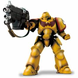 WARHAMMER 40,000 IMPERIAL FISTS INTERCESSOR WITH AUTO BOLT RIFLE AND AUXILIARY GRENADE LAUNCHER [Bandai]