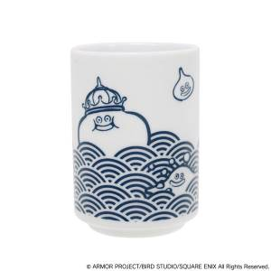 Dragon Quest Smile Slime Japanese Style Series Japanese Teacup Blue Sea Waves [Goods]