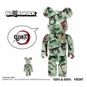 BE@RBRICK / Bearbrick Demon Slayer: Kimetsu no Yaiba 100% & 400% 2PC Limited Set [Medicom Toy]
