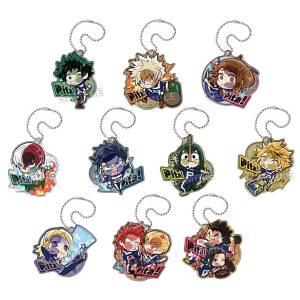 Pita! Deforme My Hero Academia Genkai Toppa Acrylic Keychain 10Pack BOX (CANDY TOY) [Bandai]