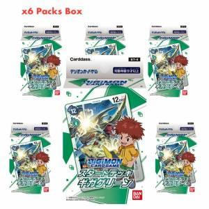 Digimon Card Game Start Deck Giga Green Pack 6 Packs Box [Trading Cards]