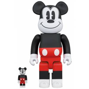BE@RBRICK / BEARBRICK MICKEY MOUSE (R&W 2020 Ver.) 100% & 400% LIMITED SET [Medicom Toy]