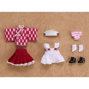Nendoroid Doll: Outfit Set Japanese-Style Maid - Pink [Nendoroid]