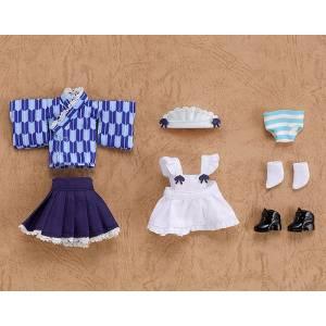 Nendoroid Doll: Outfit Set Japanese-Style Maid - Blue [Nendoroid]