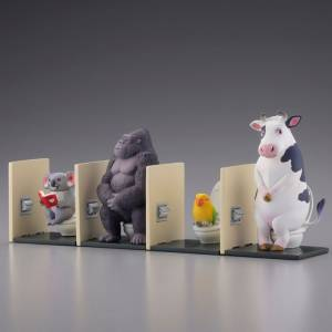 "miniQ SATO KUNIO's ANIMAL ""Bathroom Break 2"" 6Pack BOX [Kaiyodo]"