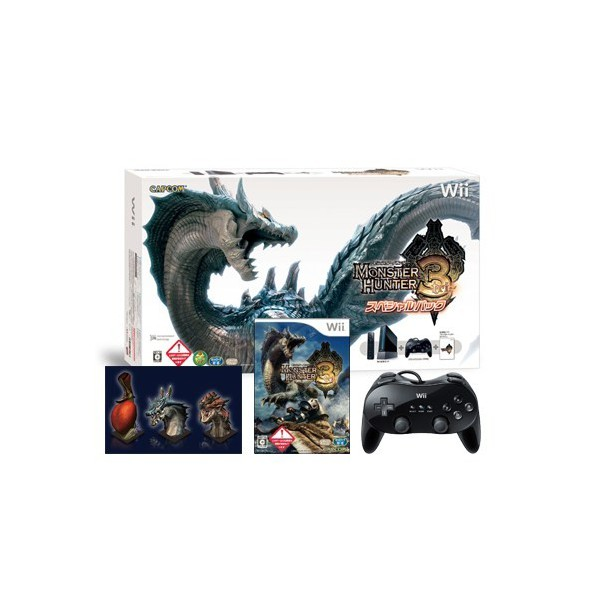 console wii black monster hunter 3 special pack neuve nin nin game com all japan. Black Bedroom Furniture Sets. Home Design Ideas
