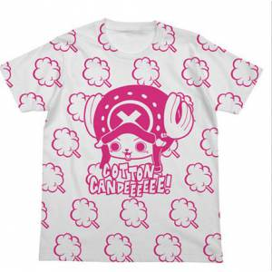 One Piece - Chopper & Cotton Candy T Shirt White - Bandai-Namco Lalabit Market Limited Edition [Goods]