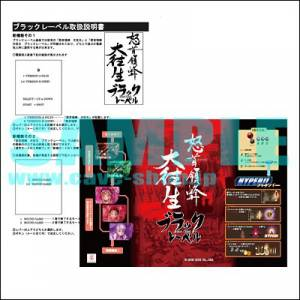Dodonpachi Daiôjô Black Label - Intruction Card A4