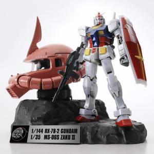 Mobile Suit Gundam 35th - Gundam RX-78-2 & MS-06S Char's Zaku II Head (Premium Ver.) [Bandai]