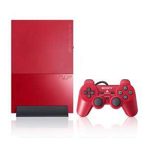 PlayStation 2 Slim - Cinnabar Red (SCPH-90000CR) (Occasion)