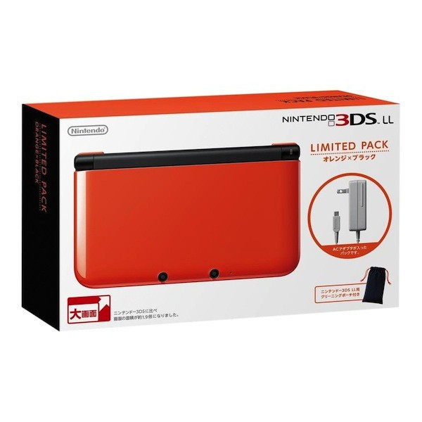 Acheter nintendo 3ds ll xl limited pack orange x black occasion 3ds import japon nin nin - Console nintendo 3ds xl occasion ...