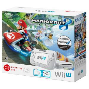 Wii U White Premium + Mario Kart 8 Bundle Set [Brand New]
