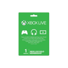 Xbox Live PrePaid Card - 1 month Gold Membership