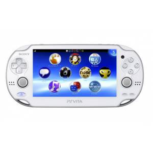 PSVita - Crystal White PlayStation Vita - 3G/Wifi (PCH-1100 AB02) [Used / Loose / dead pixel line]