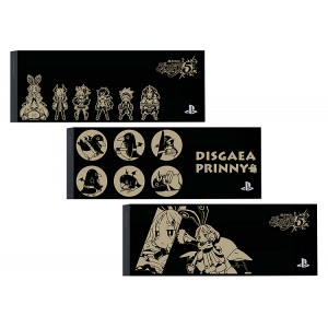 Faceplate / HDD Bay Cover PS4 Jet Black - Disgaea 5 Three Pieces Set (black) [PS4 - Brand New]