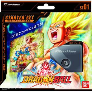 IC Carddass Dragon Ball Vol.1 Starter Set (w/IC Card Reader) 6 Pack BOX [Trading Cards]