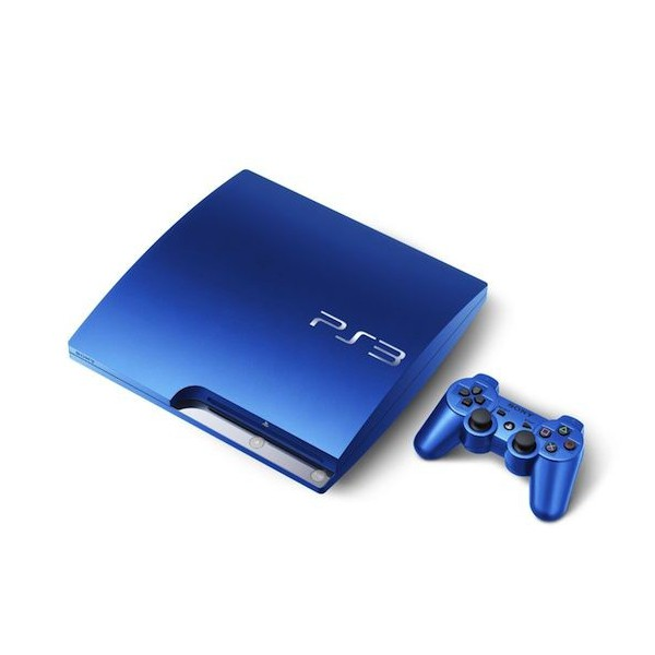 acheter console playstation 3 slim 320gb splash blue neuve import japon nin nin. Black Bedroom Furniture Sets. Home Design Ideas