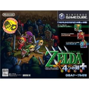 Zelda no Densetsu - 4tsu no Tsurugi + / The Legend of Zelda - Four Swords Adventures (with cable) [NGC - used good condition]