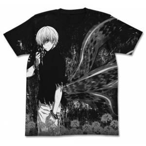 Tokyo Ghoul - Ken Kaneki All Print T-shirt / BLACK - L [Goods]