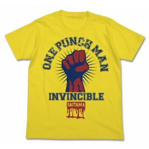 One Punch Man - College T-shirt / YELLOW - S [Goods]