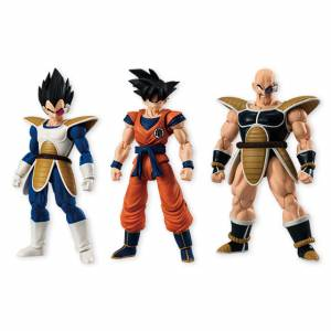 Dragon Ball Z - Son Goku Vegeta Nappa pack BOX [Bandai Shodo Vol. 4]