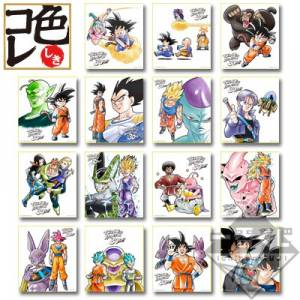 Dragon Ball Anime 30th Anniversary E Prize - 15 Colored Papers Set [Ichiban Kuji / Banpresto]