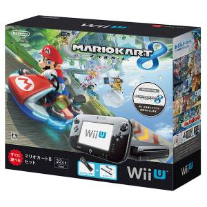 Wii U Black Premium + Mario Kart 8 Bundle Set [Used]