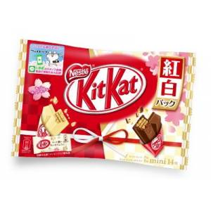 KIT KAT - red and white pack (1 Bag, 14 Mini Bars) [Food & Snacks]