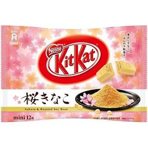 KIT KAT - Sakura & Roasted Soy Bean (1 Bag, 12 Mini Bars) [Food & Snacks]