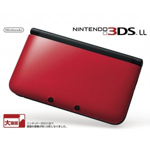 Nintendo 3DS LL (XL) - Red x Black (SPR-S-RKAA) [Brand New]
