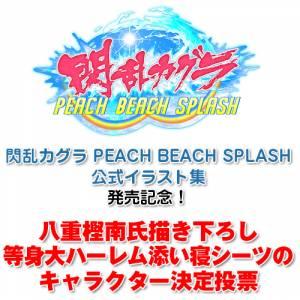 Senran Kagura PEACH BEACH SPLASH official illustration collection DX pack [Artbook]