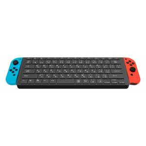 FREE SHIPPING - CYBER USB keyboard for Nintendo SWITCH Black ver. (Joy-Con dockable) [Switch]