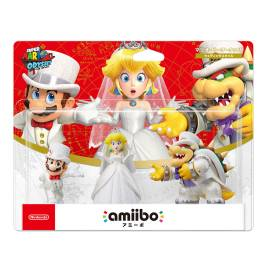 Amiibo Mario / Peach / Koopa (Bowser) Wedding Triple Set -  Super Mario series [Switch]