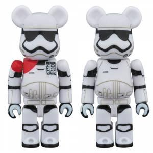 STAR WARS FIRST ORDER STORMTROOPER OFFICER & STORMTROOPER BE@RBRICK 2 PACK [Medicom Toy]