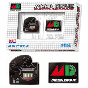 Mega Drive 30th pin badge set [Goods]