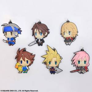 Final Fantasy - Trading Rubber Strap 6 Pack BOX [Square Enix]
