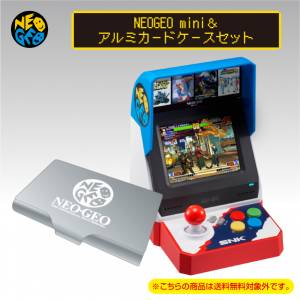 Neo Geo Mini & Aluminum Card Case Limited Set [SNK - Brand new]