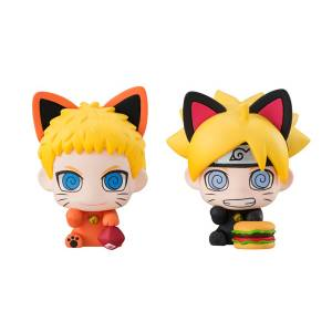 BORUTO NARUTO NEXT GENERATIONS Oyako Maneki-Neko Dattebasa! Set of 2 [Petit Chara Land]