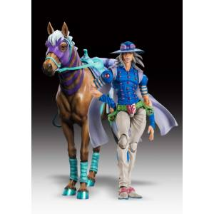 JoJo's Bizarre Adventure Part. 7 Steel Ball Run - Gyro Zeppeli Second & Valkyrie Limited SET [Super Action Statue]