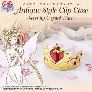 Sailor Moon - Antique Style Clip Case Serenity Crystal Tiara Limited Edition [Bandai]