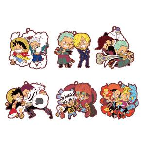 FREE SHIPPING - Rubber Mascot Buddy Colle - ONE PIECE Log.1 6 Pack BOX [Goods]