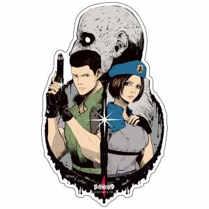 Capcom x B-SIDE LABEL Sticker - Biohazard Chris & Jill [Goods]