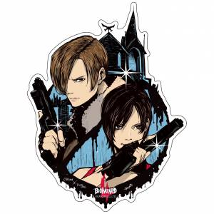 Capcom x B-SIDE LABEL Sticker - Biohazard Leon & Ada [Goods]