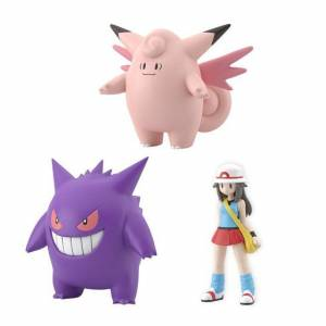 Pokemon Scale World - Leaf & Clefable & Gengar Limited set [Bandai]