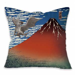 Monster Hunter - Ukiyoe Cushion Kushala Daora x Gaifu Kaisei [Goods]